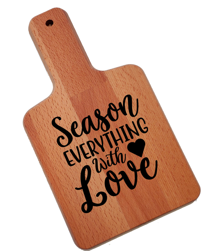 Ink Trendz Season Everything With Love Decorative Charcuterie Cheese Cutting Board