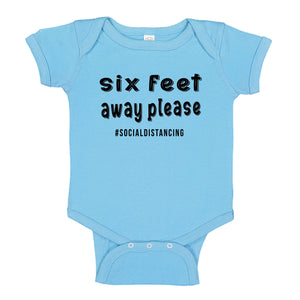 Ink Trendz® Six Feet Away Please Social Distancing Quarantine   Baby-Toddler One-piece Bodysuit