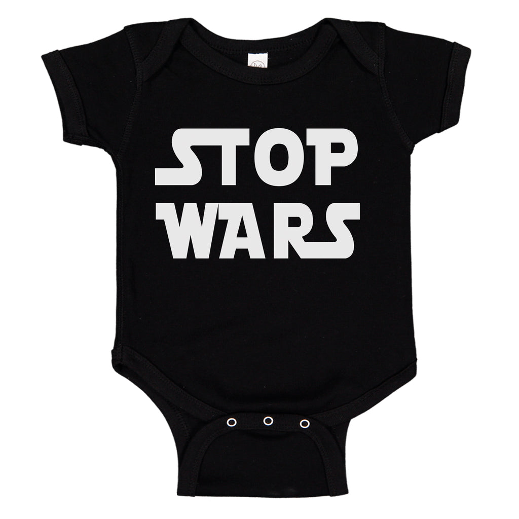 Ink Trendz® Stop Wars Funny Nerdy Baby One-Piece Bodysuit