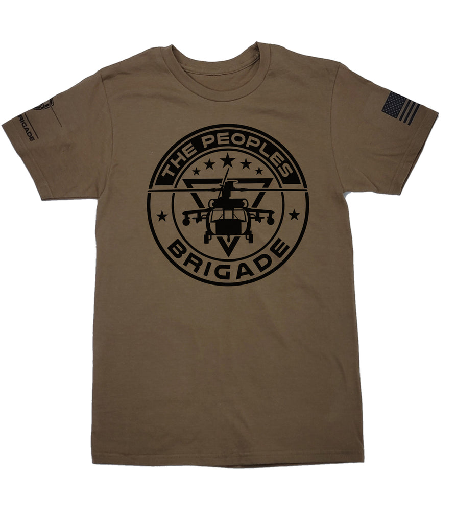The Peoples Brigade Signature Round Helo T-Shirt, military T-shirt, Military Shirts, Grunt Style T-shirt, Patriotic Tee, Patriotic T-shirts