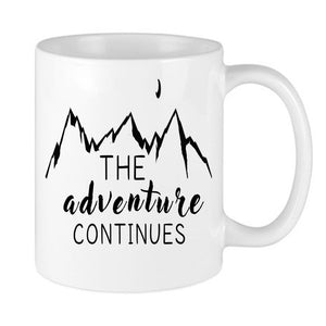 The Adventure Continues Mug - InkTrendz