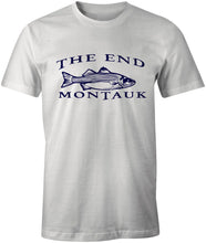 Load image into Gallery viewer, MONTAUK THE END Striped Bass Fishing Tee T-Shirt