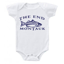 Load image into Gallery viewer, THE END MONTAUK Bass Fishing Cotton Baby Body Suit