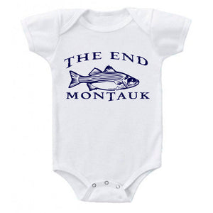THE END MONTAUK Bass Fishing Cotton Baby Body Suit