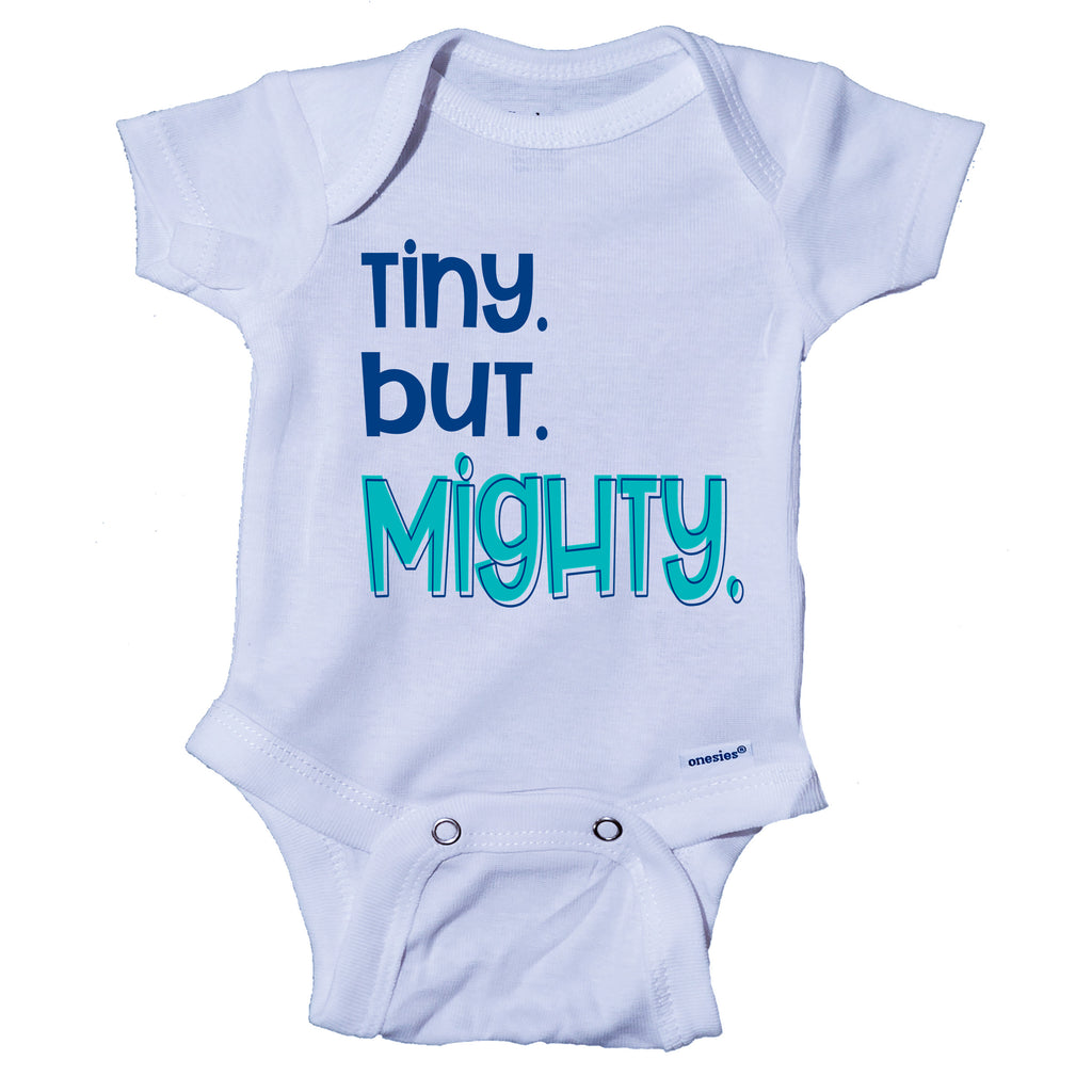 Tiny But Mighty- Miracle Baby- NICU Baby Onesie® One-Piece Bodysuit- Ink Trendz