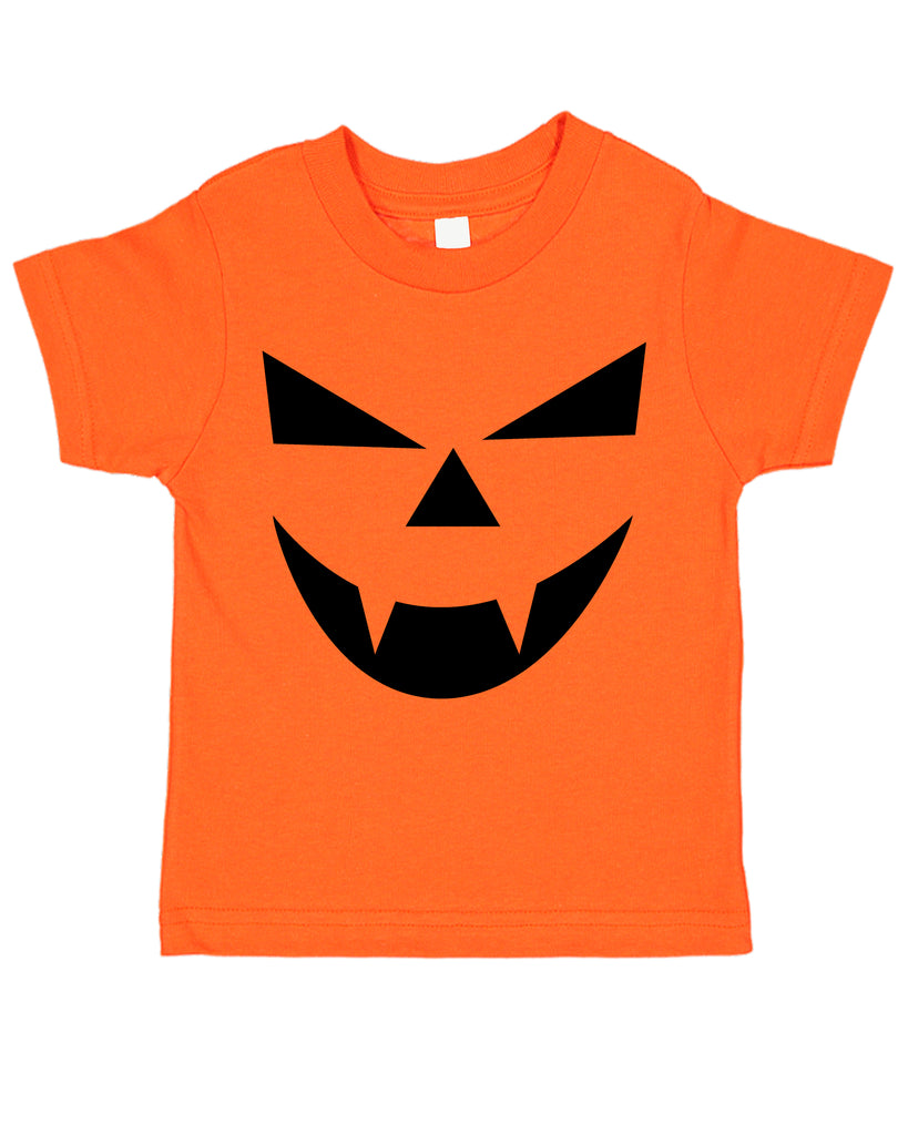 Halloween Jack-O-Lantern Pumpkin Costume Face 01 Toddler Tee T-Shirt