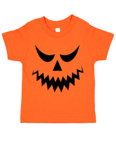 Halloween Jack-O-Lantern Pumpkin Costume Face 02 Toddler Tee T-Shirt