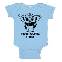 Load image into Gallery viewer, Ink Trendz® Too Cute Am I Baby Yoda Funny Baby One-Piece Bodysuit