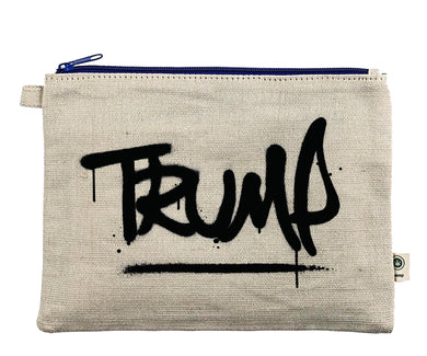 Ink Trendz® TRUMP Graffiti Spray Paint Zipper Hemp Pouch Bag