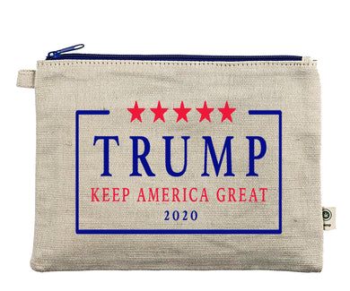 Ink Trendz® TRUMP 2020 Keep America Great MAGA Zipper Hemp Pouch Bag