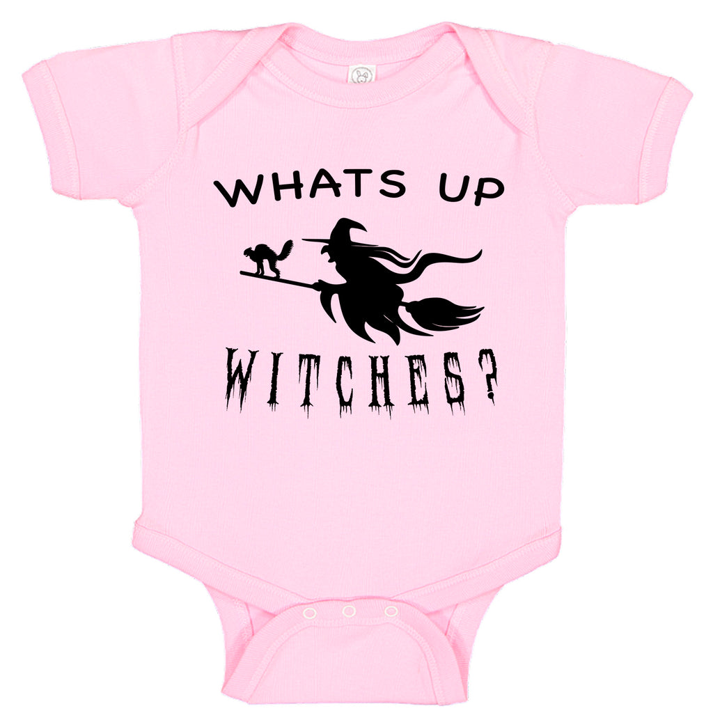 WHATS UP WITCHES Broom Stick Witch Themed Halloween Costume Bodysuit Romper