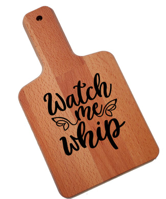 Ink Trendz Watch Me Whip Decorative Charcuterie Cheese Cutting Board