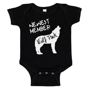 Newest Member Of The Wolfpack Bodysuit Baby Bodysuit