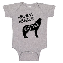 Load image into Gallery viewer, Newest Member Of The Wolfpack Bodysuit Baby Bodysuit