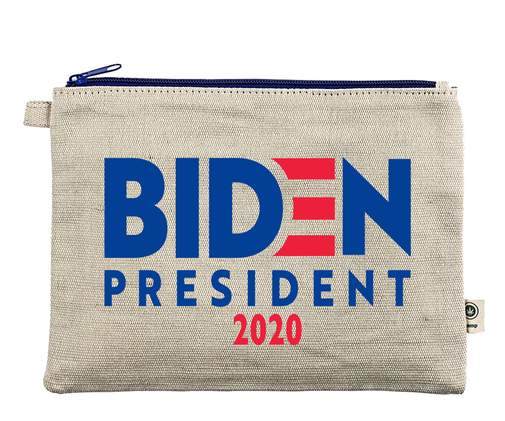 Ink Trendz® BIDEN 2020 Presidential Campaign Novelty Definition Zipper Hemp Pouch Bag