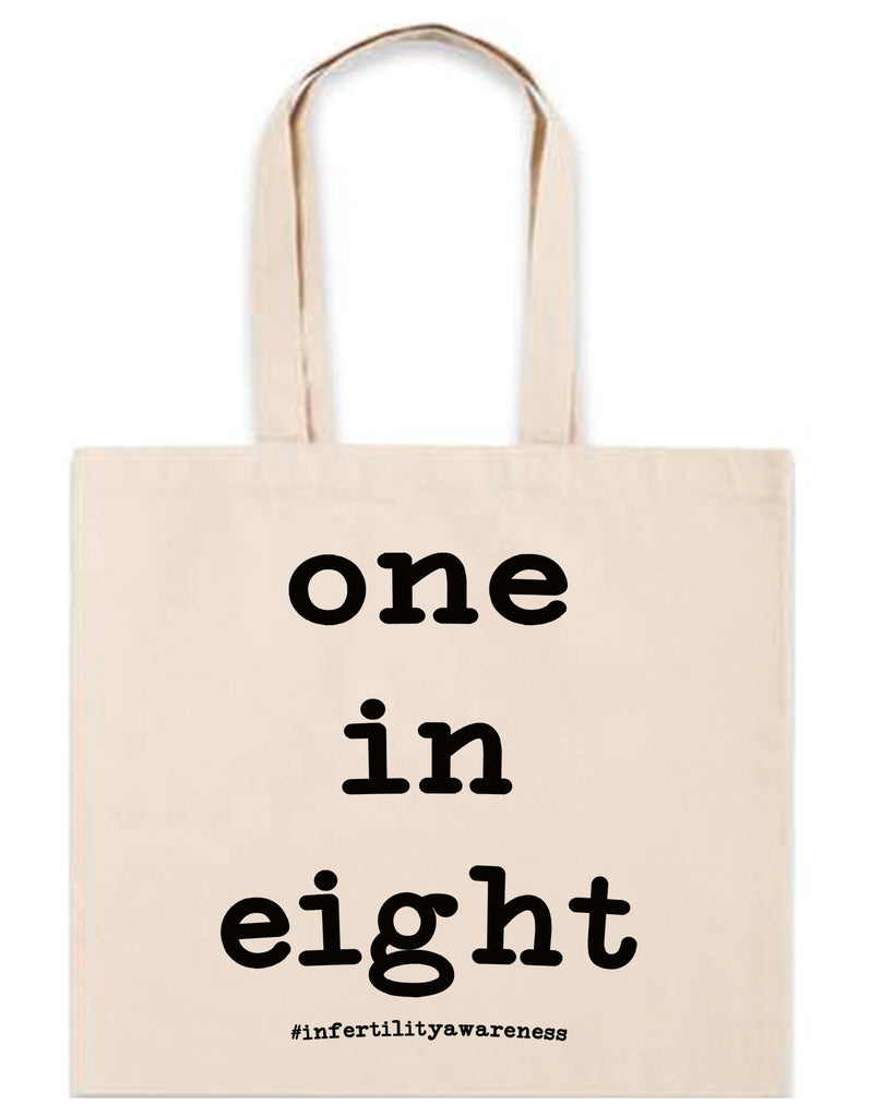 One in Eight infertility 6oz. Natural Blank Canvas Tote
