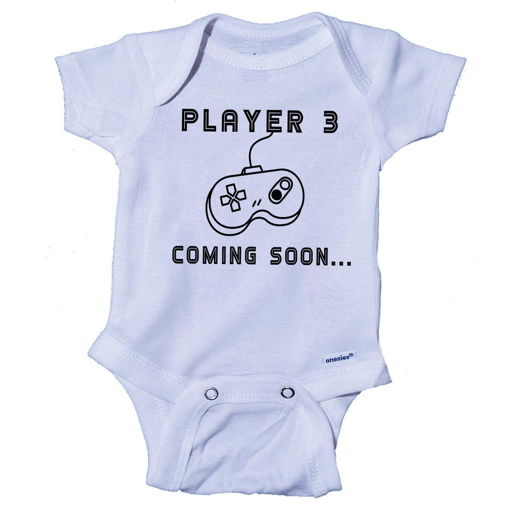 Ink Trendz® Player 3 Coming Soon... Baby announcement Infant Onesie®  Bodysuit Romper