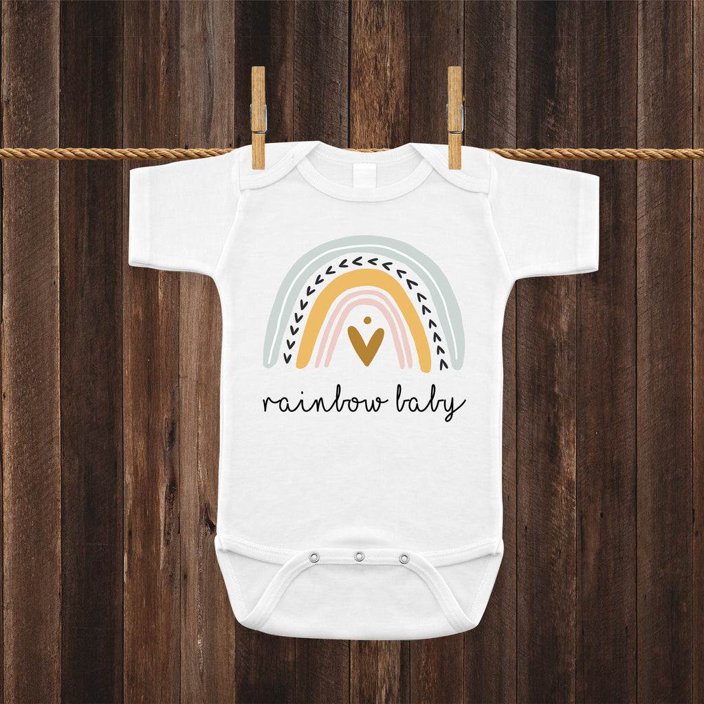 Ink Trendz® Rainbow Baby Pregnancy Reveal Announcement Baby Romper Bodysuit