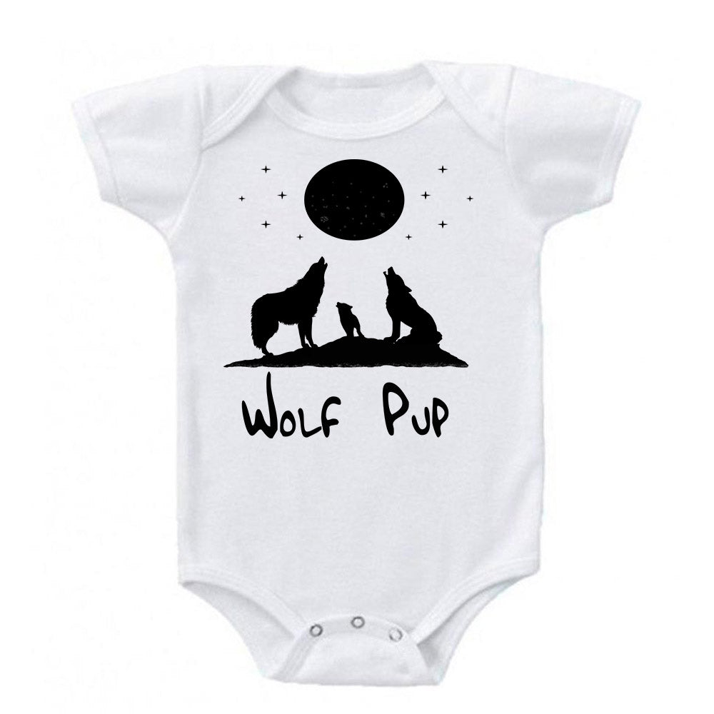 Wolf Pup Full Moon Baby Bodysuit