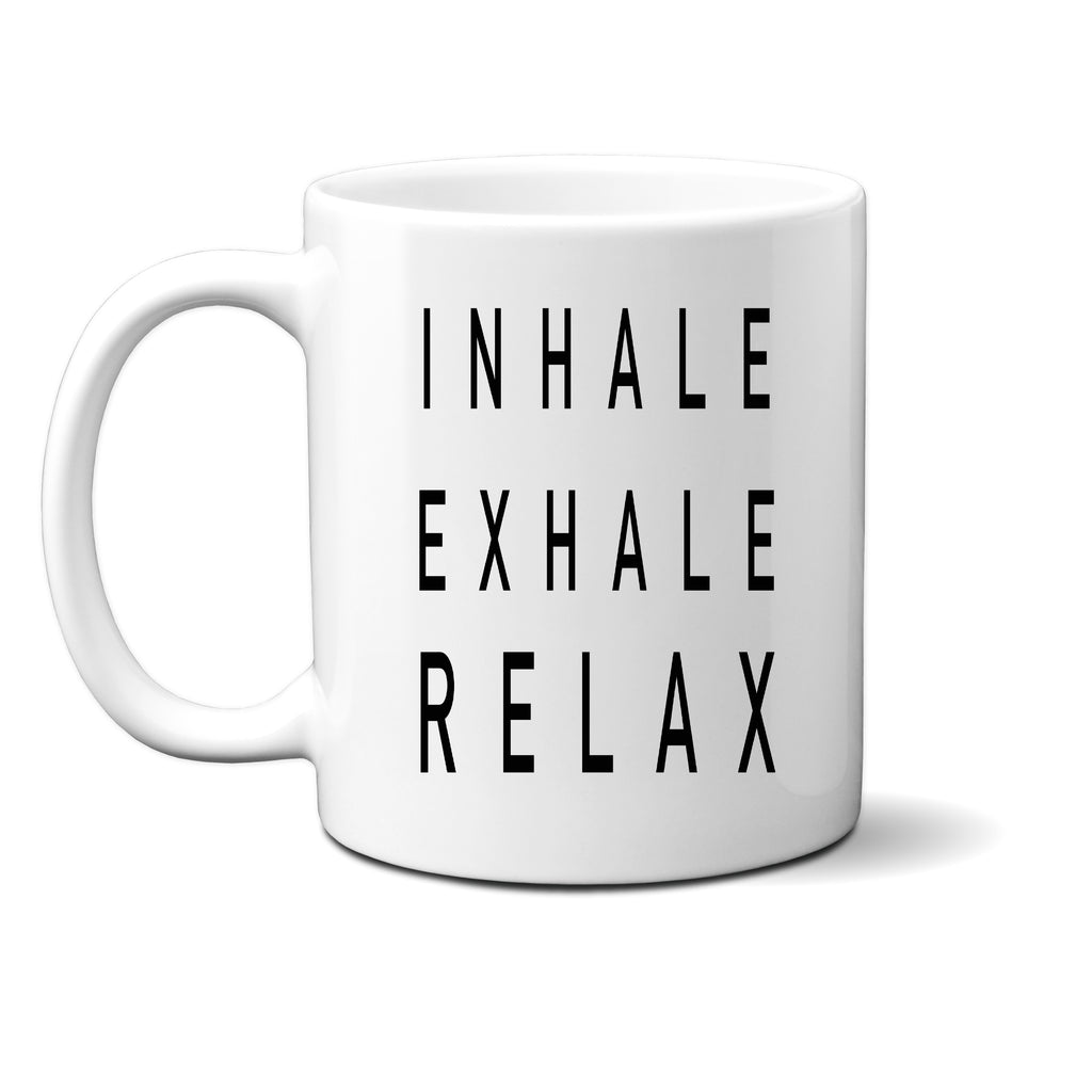 Ink Trendz® INHALE EXHALE RELAX Morning Grind Mindfulness  11 oz. Ceramic Coffee Mug