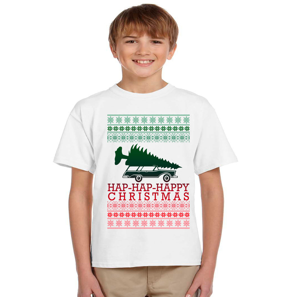 Griswald Hap-Hap-Happy Christmas Funny Youth Unisex T-Shirt
