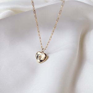 Bold Link Heart Necklace