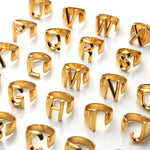 Alphabet Statement Ring