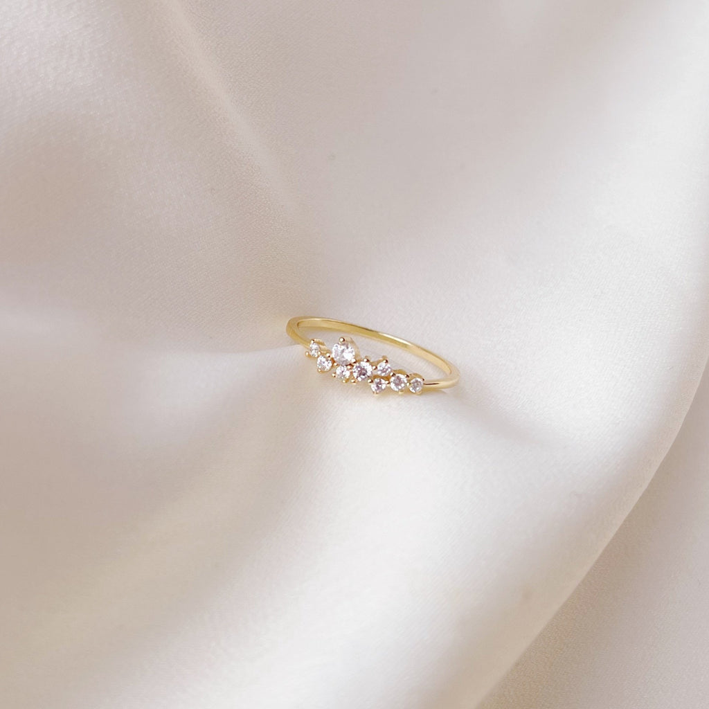 Sparkle Ahead Diamante Gold Ring