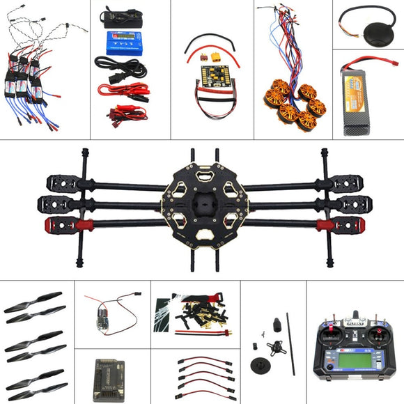 F07807-D Full Set 6-axis Aircraft Kit Helicopter Drone Tarot 680PRO Frame 700KV Motor GPS APM 2.8 Flight Control 6CH Transmitter