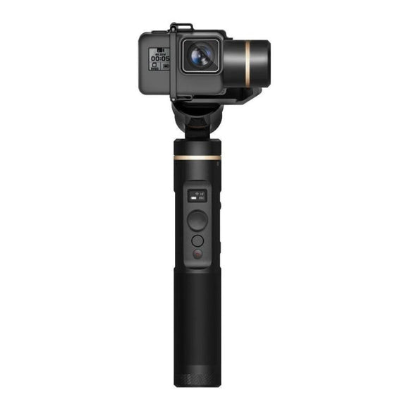 ALLOYSEED Splashproof Handheld Waterproof Gimbal Action Camera WiFi+Bluetooth OLED Screen Elevation Angle for Gopro Hero 6 5 RX0