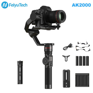 FeiyuTech Feiyu AK2000 3-Axis Camera Stabilizer Gimbal with Focus Ring for Sony Canon 5D Panasonic GH5 Nikon D850 2.8kg Payload