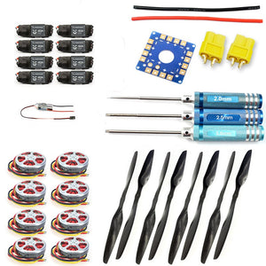 F05423-G Foldable Rack RC Helicopter Kit KK Connection Board+350KV Brushless Disk Motor+15x5.5 3K Propeller+40A ESC