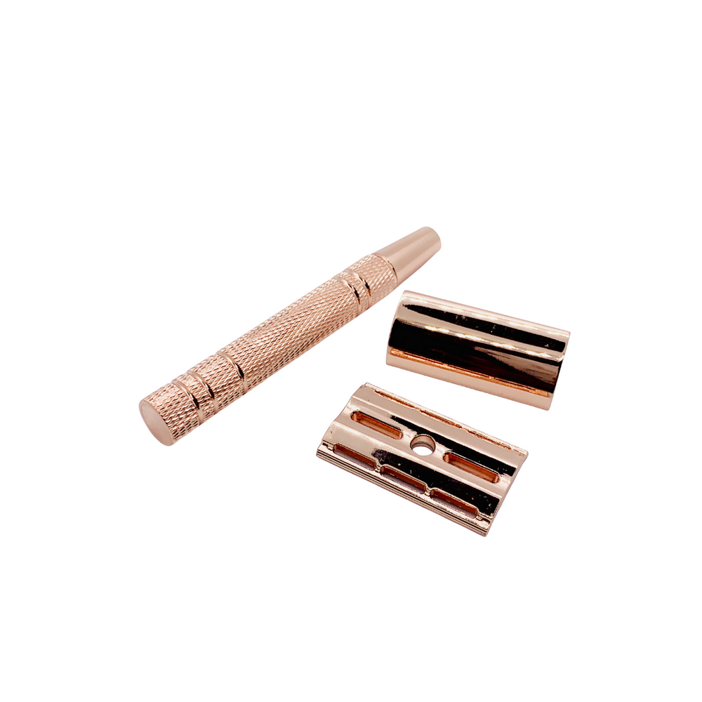 Reusable Safety Razor - Rose Gold (NEW)