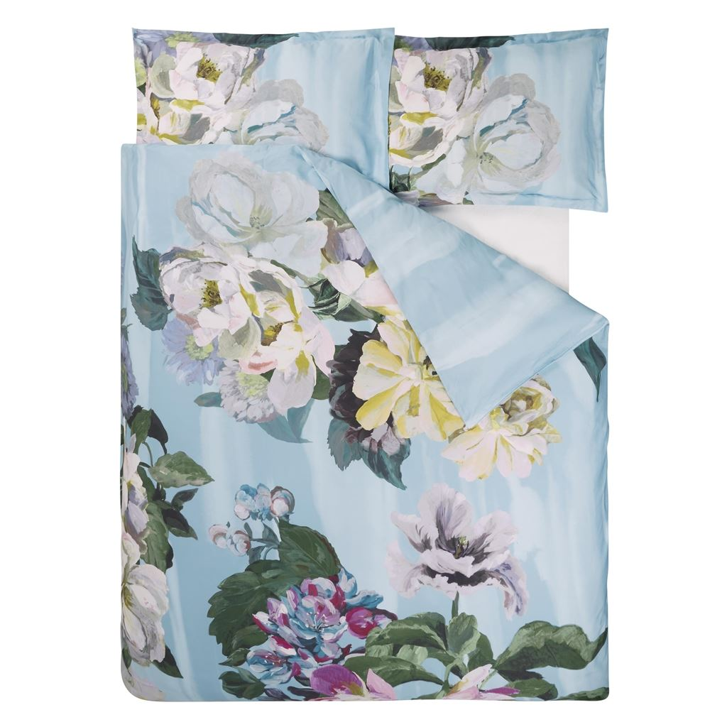 Delft Flower Sky Queen Duvet Cover