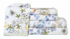 PASSION FLOWER BATH TOWELS
