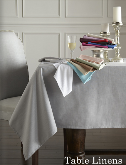 CAPRI AQUA TABLE LINENS