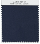 CAPRI NAVY TABLE LINENS