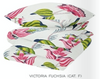 VICTORIA FUCHSIA EMBROIDERED