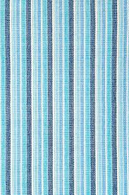 BLUE MARINE TICKING WOVEN RUG 2'X3'