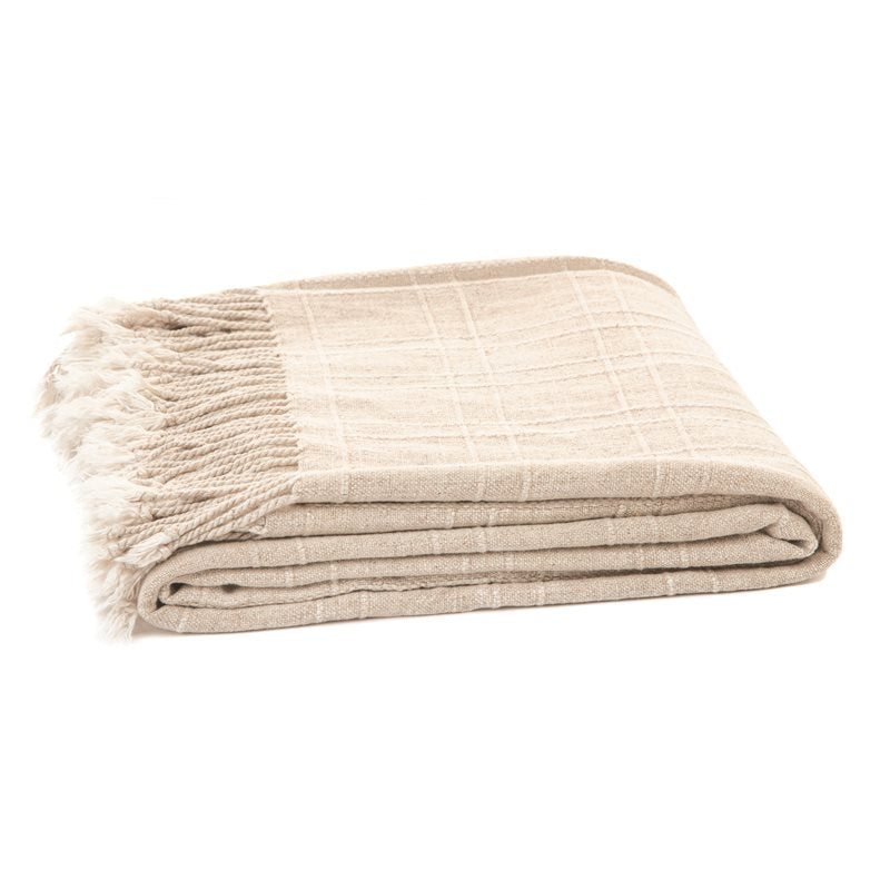 ZEFF NATURAL THROW & CUSHION