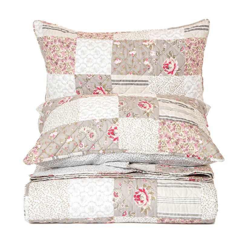 AZIZA FLOWERED QUILT SET