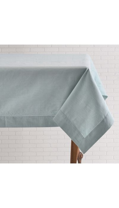 BLUE LINEN TABLECLOTH