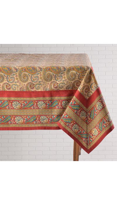 BAGRU PAISLEY TABLECLOTH