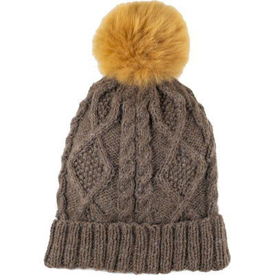 Braided Pom Hat