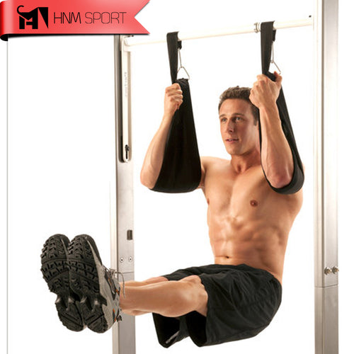 Ab Straps for Hanging Abdominal Raises Black
