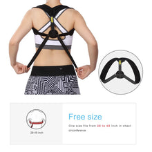 Load image into Gallery viewer, Adjustable Posture Corrector. Upper Back Postural Brace for Pain Relief