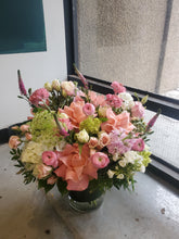 Load image into Gallery viewer, Blooming Pinks (size option) *vase arrangement*