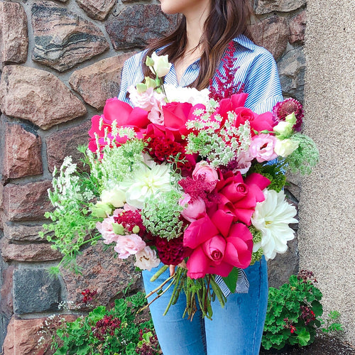 Lady in Pink (size option) *bouquet*