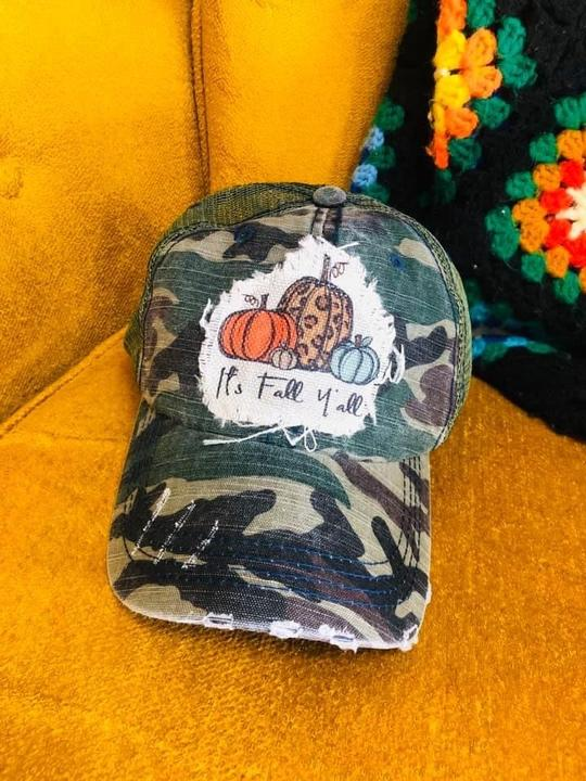 It's fall y'all - Trucker Hat - Owl Cove