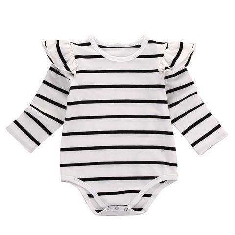 Everly Striped Long Sleeve Romper - Owl Cove